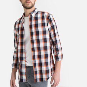 Μακρυμάνικο καρό πουκάμισο σε ίσια γραμμή