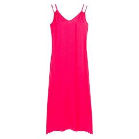 Μακρύ φόρεμα παραλίας με λεπτές τιράντες